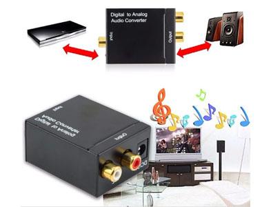 Convertidor àudio digital òptic a estèreo analògic